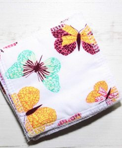 Colourful Butterflies Make-up remover wipes - set of 5