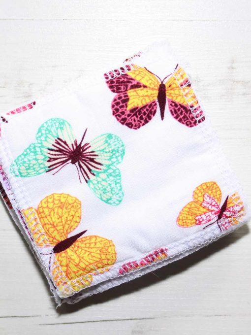Colourful Butterflies Make-up remover wipes – set of 5