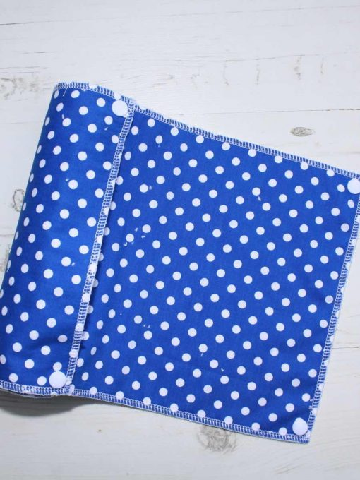 Blue Polka Dot - Reusable Kitchen Roll - Set of 6