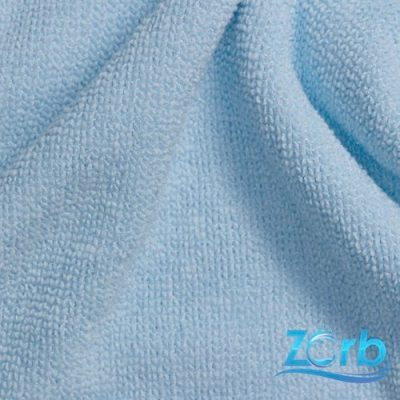 Zorb Microfibre Terry Towelling Baby Blue