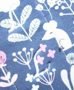 "10"" Heavy Flow cloth pad   Woodland Cotton Jersey   Burgundy Wind Pro Fleece   Luna Landings   Sub"