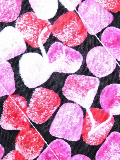 "12"" Regular Flow cloth pad   Fruit Jellies Cotton   Red Wind Pro Fleece   Luna Landings   Flared Sub"