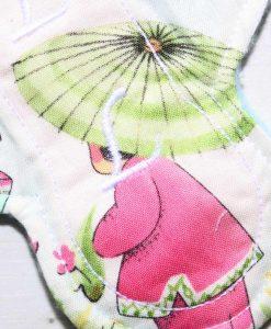 "6"" Liner cloth pad | China Girl Cotton | Aqua Polar Fleece | Luna Landings | Slim Sub"