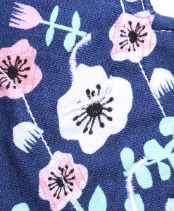 "6"" Liner cloth pad | Florals Navy Cotton Jersey | Mint Wind Pro Fleece | Luna Landings | Slim Sub"