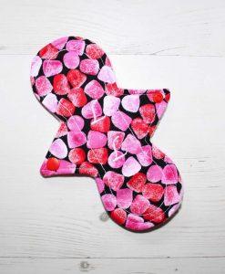 "8"" Liner cloth pad | Fruit Jellies Cotton | Pink Polar Fleece | Luna Landings | Slim Sub"
