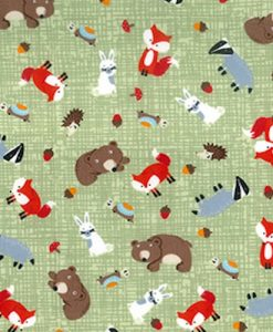 Forest-Critters-Cotton