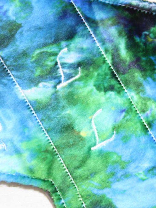 12″ Regular Flow cloth pad | Magic Skies Phoenix Plush | Grey Wind Pro Fleece | Luna Landings | Double Flare 2