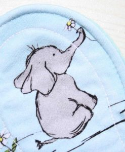 "9"" Liner cloth pad | Humphrey Elephant Cotton Jersey | Aqua Wind Pro Fleece | Luna Landings | Slim Sub"