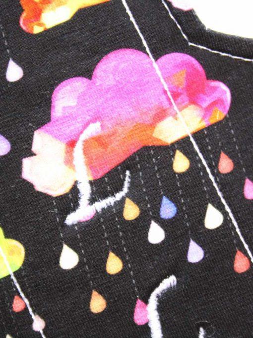 "9"" Regular Flow cloth pad | Crystal Rainclouds Cotton Jersey | Mint Wind Pro Fleece | Luna Landings | Sub"