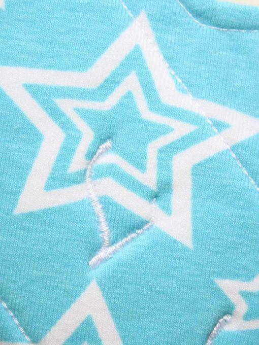 9″ Regular Flow cloth pad | Stars on Aqua Cotton Jersey | Mint Wind Pro Fleece | Luna Landings | Sub 2
