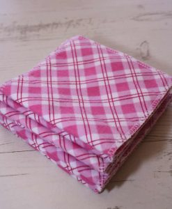 Pink Plaid - Family cloth - Set of 7