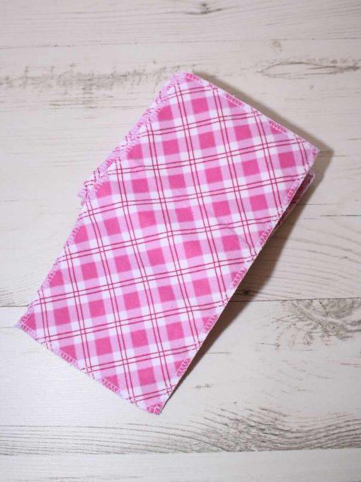 Pink Plaid – Family cloth – Set of 7