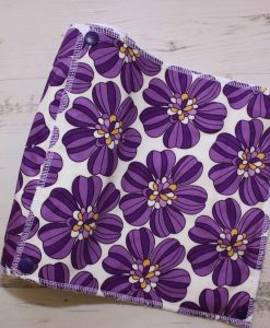 Purple Daisies - Reusable Kitchen Roll - Set of 6