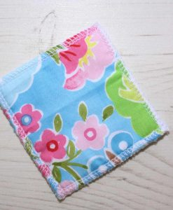 Flowers on Blue Make-up remover wipes - set of 5