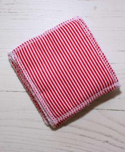 Red Candy Stripes Make-up remover wipes – set of 5