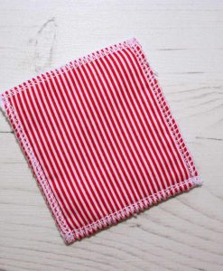Red Candy Stripes Make-up remover wipes - set of 5