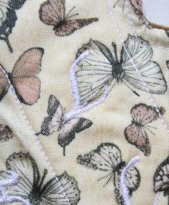 "9"" Heavy Flow cloth pad | Sepia Butterflies Cotton | Brown Wind Pro Fleece | Luna Landings | Slim Sub"