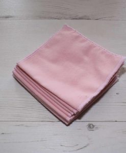 Value Pink Cotton flannel – Family cloth – Set of 8