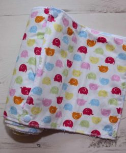 Rainbow Elephants - Reusable Kitchen Roll - Set of 8