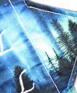 "11"" Heavy Flow cloth pad | Northern Lights Cotton | Grey Wind Pro Fleece | Luna Landings | Sub"