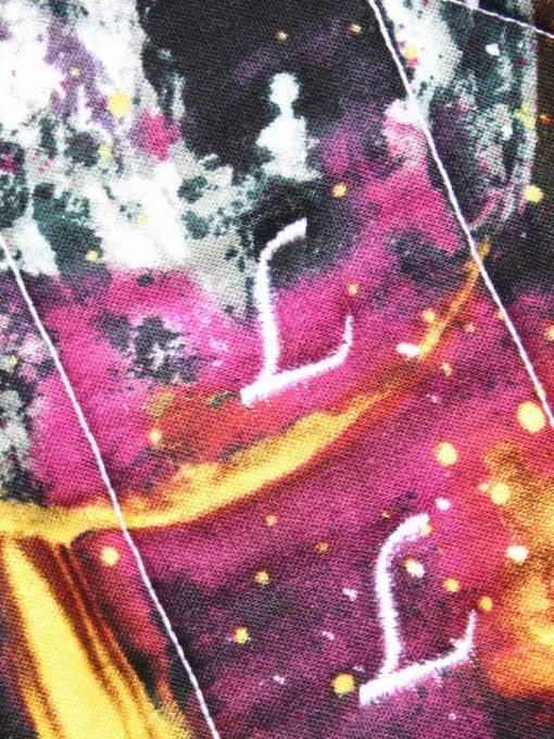 14″ Overnight Extra Heavy Flow cloth pad | Massive Planets Cotton | Wine Wind Pro Fleece | Luna Landings | Flared Sub 2