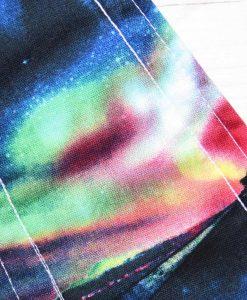"14"" Regular Flow cloth pad | Northern Lights Cotton | Blue Wind Pro Fleece | Luna Landings | Double Flare"