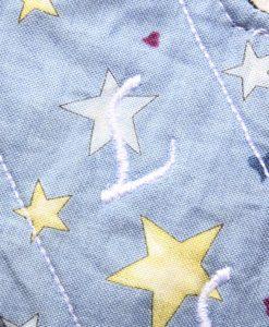 "6"" Regular Flow cloth pad | Chambray Stars Cotton | Black Wind Pro Fleece | Luna Landings | Sub"