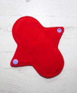 6″ Regular Flow cloth pad | Pony Apocalypse Cotton Jersey | Red Wind Pro Fleece | Luna Landings | Sub 3