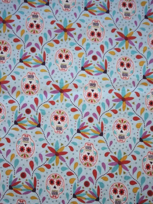 Day of the Dead Flowers Cotton