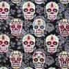 Flowered Skulls Cotton