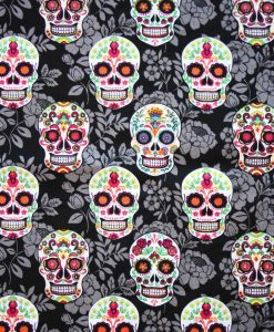 Flowered Skulls Cotton