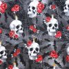 Rose and Candle Skulls Cotton