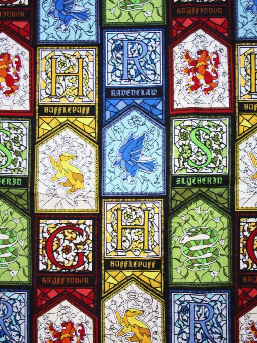 Stained Glass Houses Cotton