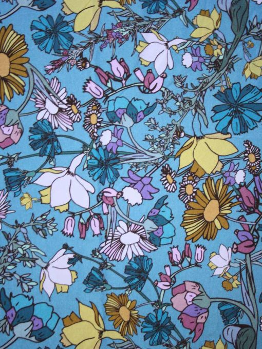 Wild Flowers Cotton Jersey