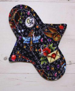 "9"" Liner cloth pad | Wacky Wizard Cotton Jersey | Brown Wind Pro Fleece | Luna Landings | Sub"