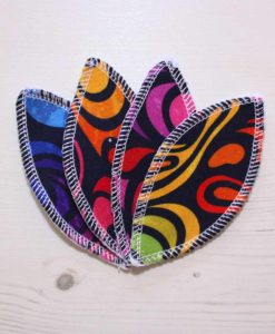 Stained Glass Ripples Interlabial pads - set of 4