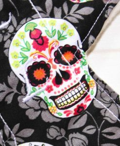 10″ Liner cloth pad | Flowered Skulls Cotton | Cream Wind Pro Fleece | Luna Landings | Slim Sub 2