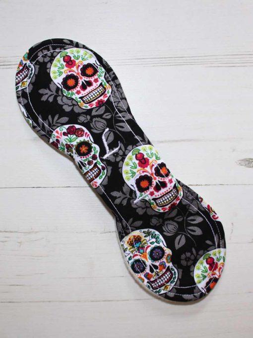 10″ Liner cloth pad | Flowered Skulls Cotton | Cream Wind Pro Fleece | Luna Landings | Slim Sub 5