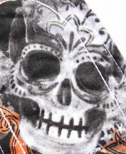 "10"" Regular Flow cloth pad | Large Skulls Orange Cotton | Charcoal Wind Pro Fleece | Luna Landings | Sub"