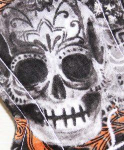 12″ Regular Flow cloth pad | Large Skulls Orange Cotton | Charcoal Wind Pro Fleece | Luna Landings | Double Flare 2