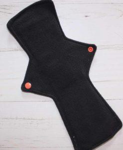 12″ Regular Flow cloth pad | Large Skulls Orange Cotton | Charcoal Wind Pro Fleece | Luna Landings | Double Flare 3