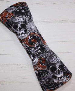 12″ Regular Flow cloth pad | Large Skulls Orange Cotton | Charcoal Wind Pro Fleece | Luna Landings | Double Flare 5