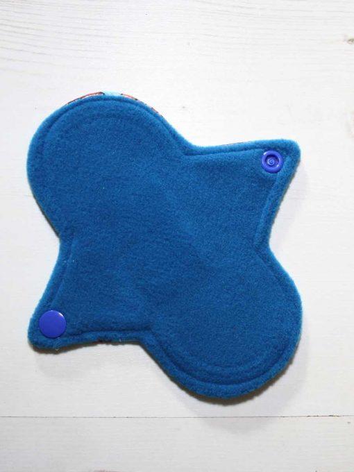 "6"" Regular Flow cloth pad | Pirate Ships Cotton Jersey | Blue Wind Pro Fleece | Luna Landings | Sub"