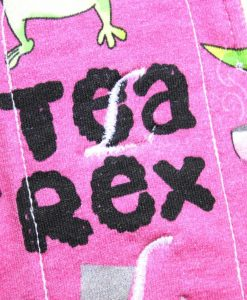 6″ Regular Flow cloth pad | Tea Rex Fuschia Cotton Jersey | Wine Wind Pro Fleece | Luna Landings | Sub 2