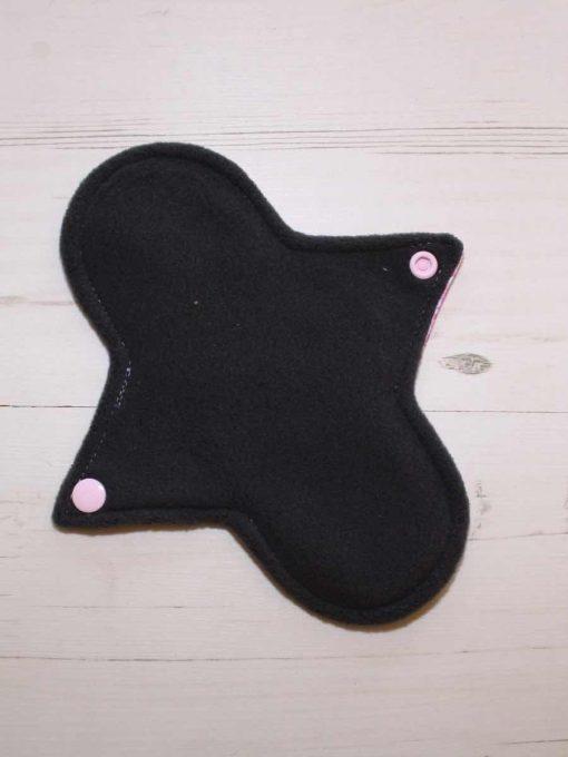 8″ Light Flow cloth pad   Rose Glitter Cotton Jersey   Charcoal Wind Pro Fleece   Luna Landings   Sub 3