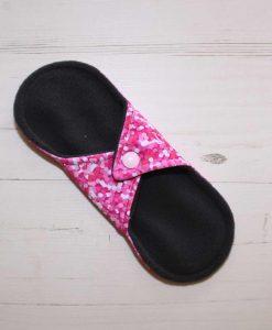8″ Light Flow cloth pad   Rose Glitter Cotton Jersey   Charcoal Wind Pro Fleece   Luna Landings   Sub 4