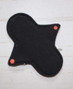 8″ Regular Flow cloth pad | Day of the Dead Princesses Cotton Jersey | Charcoal Wind Pro Fleece | Luna Landings | Sub