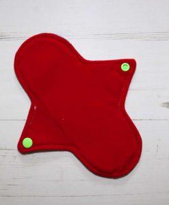 8″ Regular Flow cloth pad | Eco Dots Cotton Jersey | Red Wind Pro Fleece | Luna Landings | Sub 3