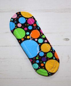 8″ Regular Flow cloth pad | Eco Dots Cotton Jersey | Red Wind Pro Fleece | Luna Landings | Sub 5