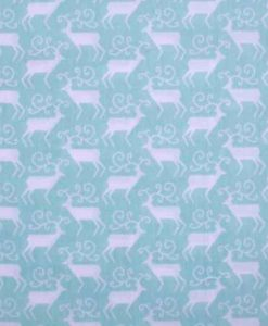 Christmas Aqua Reindeers Reusable Kitchen Roll